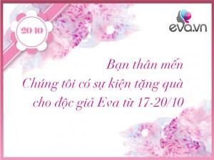 Eva.vn tặng quà độc giả nhân Ngày Phụ nữ Việt Nam 20/10