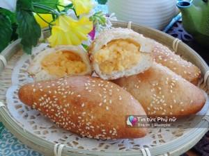 Biến tấu với bánh tiêu nhân custard tuyệt ngon