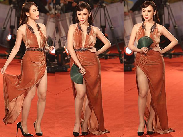 """Angela Phương Trinh làm """"náo loạn"""" thảm đỏ Liên hoan phim Quốc tế"""