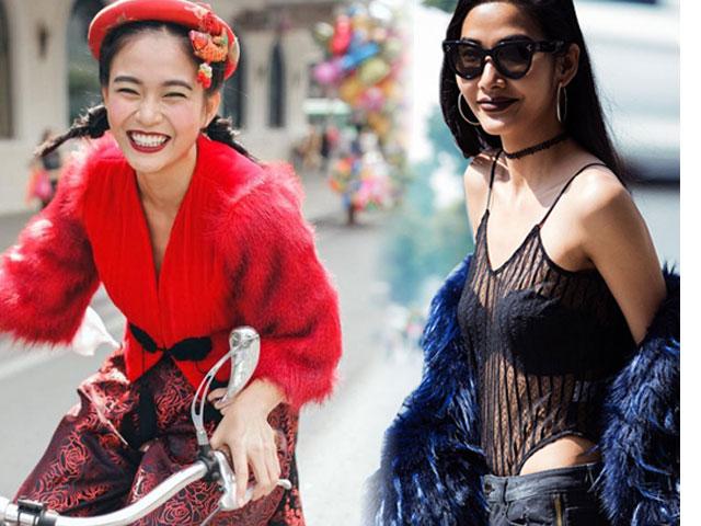 Thời trang đường phố sao Việt: 4 quán quân Next Top gây xôn xao đường phố Hà Nội