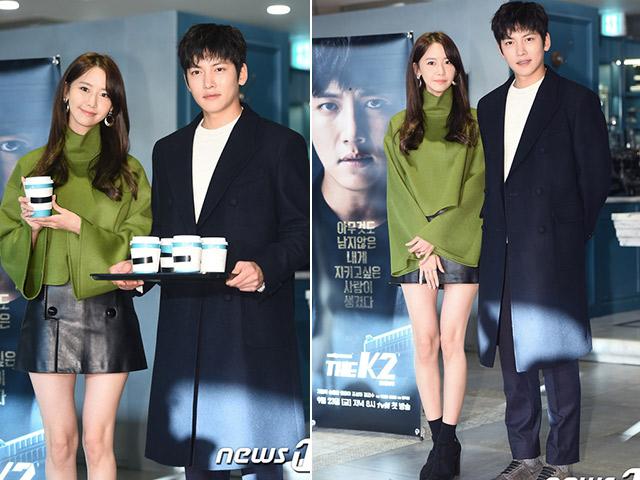 Yoona (SNSD) lộ chân tong teo sánh đôi bên trai đẹp Ji Chang Wook