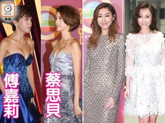"""""""Đàn chị"""" của đài TVB kín đáo vẫn lấn át """"đàn em"""" ăn mặc táo bạo"""