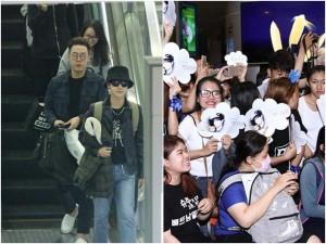 Yesung (Super Junior) đội mũ, bịt mặt vượt vòng vây hàng trăm fan Việt