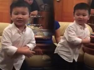 Cháu trai tỷ phú Hoàng Kiều nhảy Gangnam style cực đáng yêu