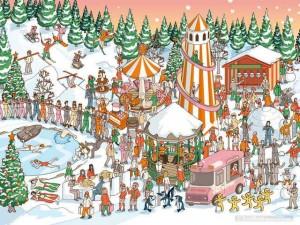 Đố bạn trong vòng 3 giây hãy tìm ra vị trí của ông già Noel trong bức hình