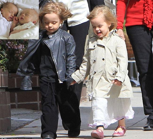 5. Cặp song sinh được yêu thích nhất 'Tác phẩm' copy và paste hoàn hảo nhất của Jolie-Pitt.