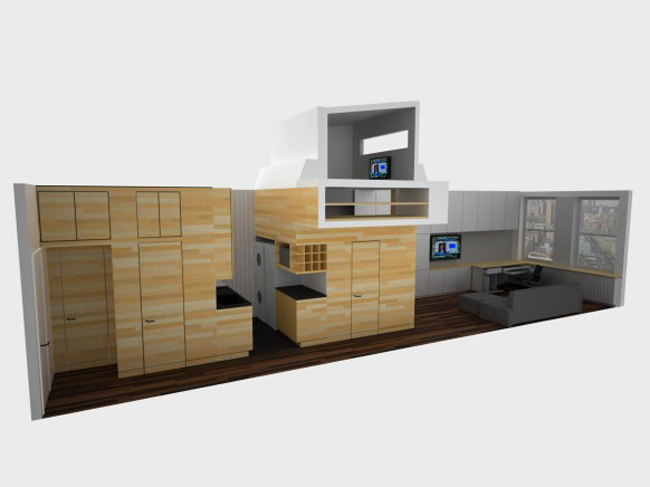 Đây là một căn hộ nằm tại thành phố New York. Nó gây ấn tượng bởi gia chủ biết cách tận dụng đến từng mét trong nhà để có được một chốn an cư xinh xắn.