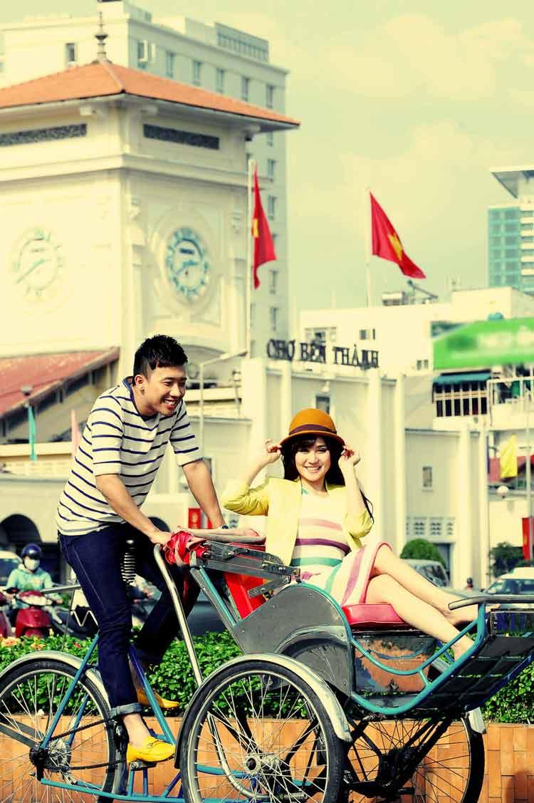 Anh cặp đôi cùng 'chị gái' Đoan Trang và giành giải Quán quân.