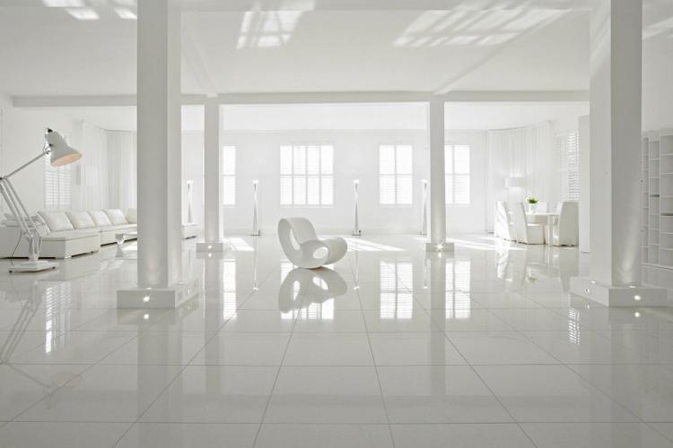 Căn hộ trắng đẹp mỹ mãn này hẳn sẽ đem đến cảm hứng tràn đầy cho những nàng Eva yêu màu trắng, thích sự tinh khôi, trong sáng.