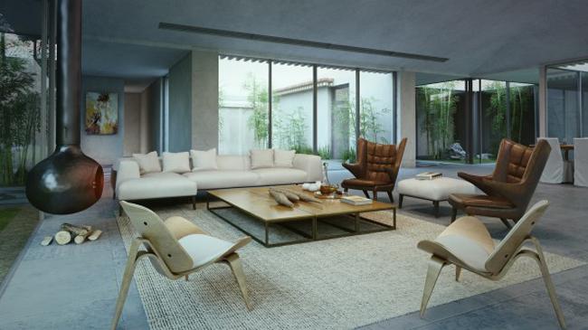 Ngôi nhà này là không gian vô cùng mỹ mãn cho bất cứ người độc thân nào muốn có một không gian sang trọng mà yên bình.