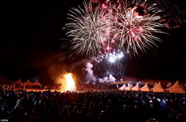 Đảo Jeju của Hàn Quốc đón chào năm mới.