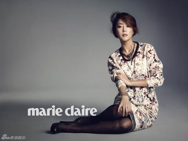 Biểu tượng sắc đẹp của xứ Hàn đã sẵn sàng cho một năm mới nhiều hoạt động với những bức hình tuyệt đẹp trên tạp chí Marie Claire