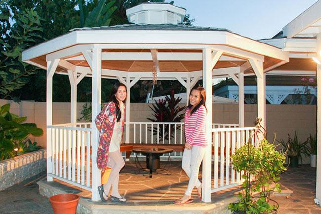 Trong khu vườn sau nhà, Việt Hương còn danh một khoảng không gian để cả nhà có thể cùng tụ tập chơi đùa, thư giãn.