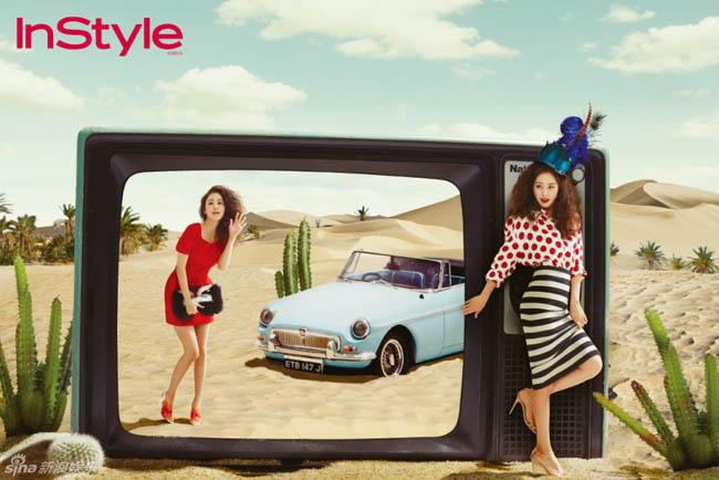 2 mỹ nhân hàng đầu của làng nghệ Hàn Quốc - Kim Hee Sun và Kim Tae Hee không hẹn mà cùng nhau khoe sắc trong những trang báo của InStyle