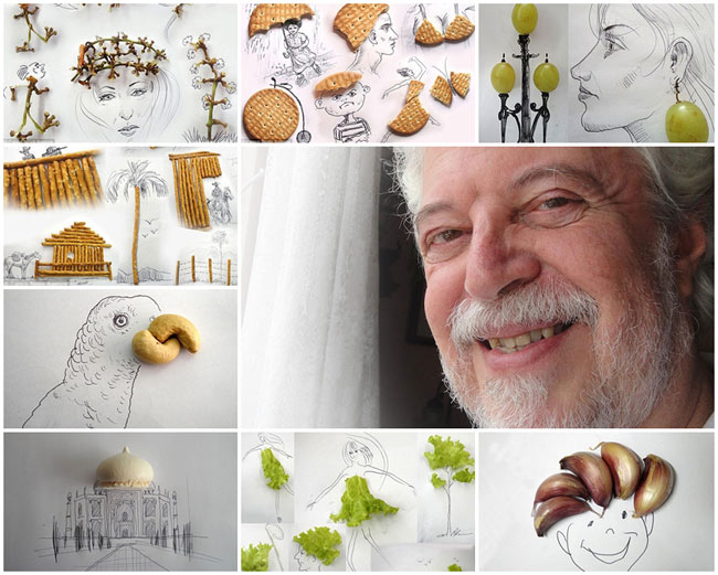 Victor Nunes là nghệ sĩ người Bồ Đào Nha. Với óc hài hước và sự sáng tạo của mình, ông đã đưa những thực phẩm hàng ngày vào trong tranh của mình, khiến chúng trở nên sống động hơn bao giờ hết.  Nunes có một gu hài hước tuyệt vời khi ông đã 'biến hình' các mẩu đồ ăn, nút chai rượu cũ, và giấy gói kẹo nhàu nát và tạo ra những tác phẩm đáng kinh ngạc. Đặc biệt hơn, chính chúng mới là trung tâm của tác phẩm. Nếu không có chúng, các hình ảnh minh họa sẽ không có ý nghĩa gì cả. Bằng cách sắp xếp tất cả mọi thứ thường ngày vào những tác phẩm trong tưởng tượng của mình, Nunes đã khiến cho người xem của mình đi từ bất ngờ này tới bất ngờ khác.