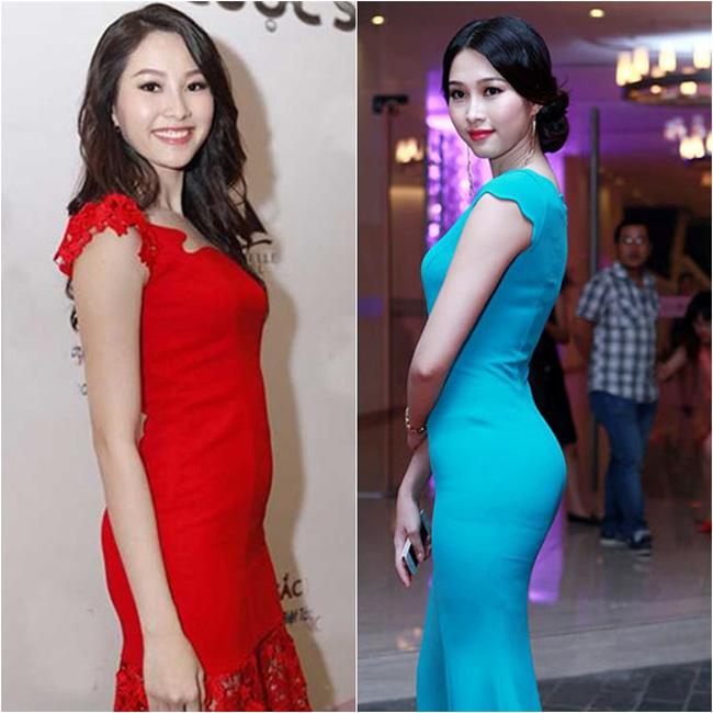Đặng Thu Thảo bị nghi ngờ độn mông trong bức hình mặc chiếc váy xanh ngọc bởi nó khá bất thường so với thân hình mỏng của cô.