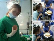 Làm đẹp - Nhân viên thẩm mỹ viện ăn uống, nô đùa trong khi phẫu thuật