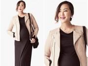 Thời trang - 5 cách phối đồ tuyệt đẹp cho bà bầu sắp lâm bồn