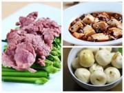 Bếp Eva - Thịt bò xào hẹ, đậu phụ sốt chay hấp dẫn cơm chiều