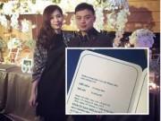 Hậu trường - Lộ thiệp cưới của hot girl Mi Trần và bạn trai