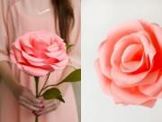 Trang trí nhà cửa - Hoa hồng giấy khổng lồ cho nàng điệu đà ngày Tết