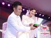 Hậu trường - Cô dâu Lê Thúy cười rạng rỡ trong tiệc cưới