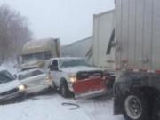 Clip Eva - Ô tô đụng liên hoàn vì bão tuyết ở Mỹ