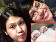 """Hậu trường - Hoàng My hạnh phúc khi chị gái sinh đôi hai """"công chúa"""""""