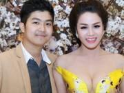 Thời trang Sao - Nhật Kim Anh mặc váy khoe ngực táo bạo bên chồng