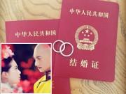 Làng sao - Sáng nay, Lưu Thi Thi - Ngô Kỳ Long đã kết hôn
