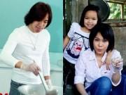 Làng sao - Việt Hương giản dị cùng chồng và con gái đi từ thiện