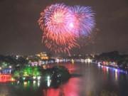Tin hot - Hà Nội bắn pháo hoa ở bãi giữa sông Hồng dịp Tết