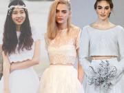 """Thời trang - Cô dâu """"đột phá"""" với mốt áo cưới độc đáo"""