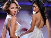 Thời trang - Lan Khuê, Minh Triệu khoe lưng trần óng mượt