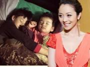 Làng sao - Hai con Jennifer Phạm thân thiết ôm nhau ngủ