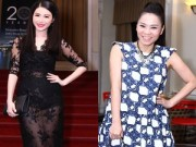 """Làng sao - Bà xã Đăng Khôi hở bạo đối lập """"bà bầu"""" Thu Minh"""