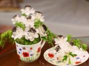 Bếp Eva - Tỉa hoa từ củ cải cho bàn ăn thêm xinh