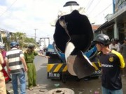 Tin tức - Cà Mau: Nổ xe bồn dầu, 2 người nguy kịch