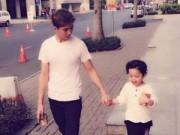 Làng sao - Tim dạo phố cùng con trai sau ồn ào với Trương Quỳnh Anh