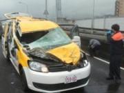 Tài xế taxi kể lại khoảnh khắc bị máy bay Đài Loan quẹt phải