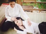 Làng sao - Trà Giang khoe vẻ đẹp dịu dàng bên mẹ
