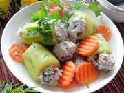 Bếp Eva - Canh bí ngòi nhồi thịt chống ngán ngày Tết