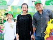 Làng sao - Kim Hiền hạnh phúc khoe bụng bầu 3 tháng bên chồng con