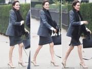 Làng sao - Fan lo lắng khi Angelina Jolie lộ chân gầy gò trơ xương