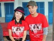 TV Show - Thái Chí Hùng, Tuyết Trinh mặc áo đôi đi từ thiện