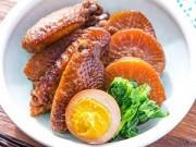 Món ngon - Cánh gà om củ cải nóng hổi, mềm ngon