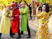 """Thời trang Sao - Phương Thanh mặc áo dài làm """"phó nháy"""" cho nhóm MTV"""