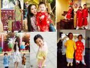 Người nổi tiếng - Con sao Việt rạng rỡ áo dài đón tết
