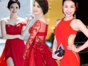 Thời trang Sao - Đầu năm, sao Việt nô nức diện váy đỏ để lấy may