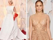 Thời trang - Lady Gaga hết quái, Jennifer Lopez khoe ngực trên thảm đỏ Oscars